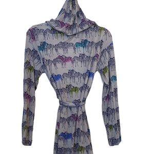 🖤💕Lightweight Hooded Zebra-print Robe